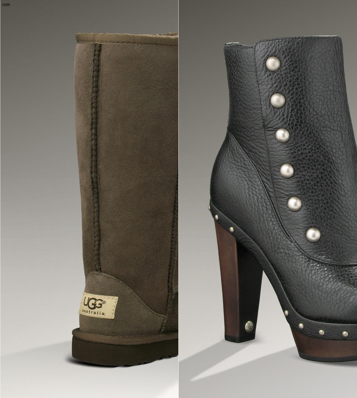 botas de mujer ugg australia de piel marrones
